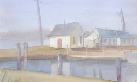 How to Paint Fog-Watercolor-Fishing Village