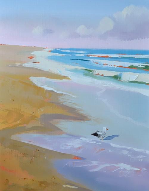 Stunning Beach Oil Painting