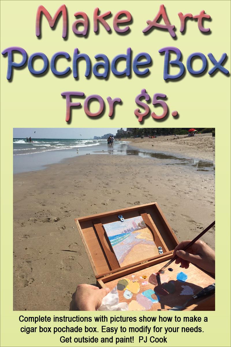 make pochade box from a cigar box by PJ Cook