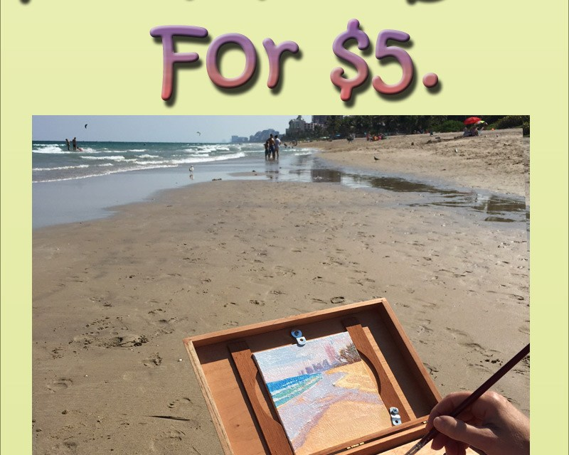 Make Pochade Box for $5