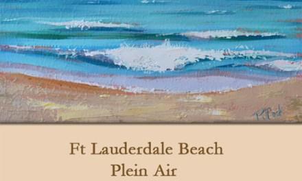 Plein Air Painting Ft Lauderdale Beach