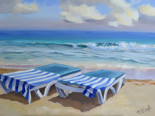 """How to Relax """"Sunbathe"""" Beach Scene Painting"""