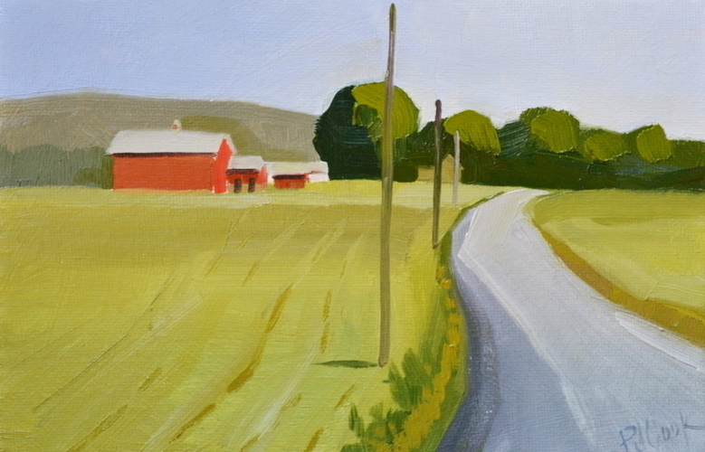 Red Barn Oil Painting