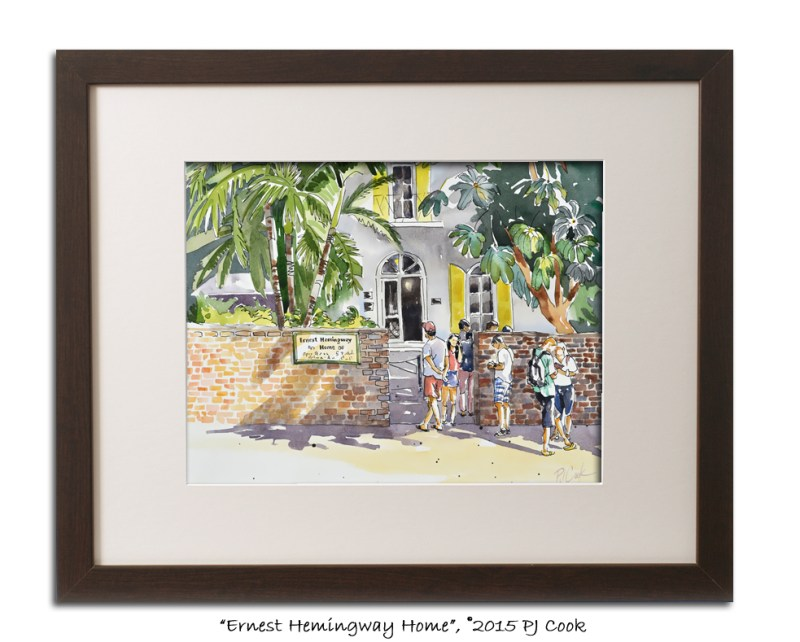original painting Key West Ernest Hemingway Home by artist PJ Cook