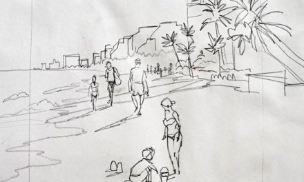 Sketching Ft Lauderdale Beach