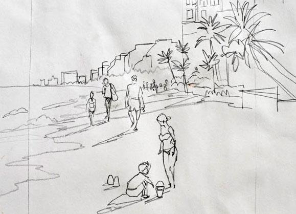 Sketching Ft Lauderdale Beach