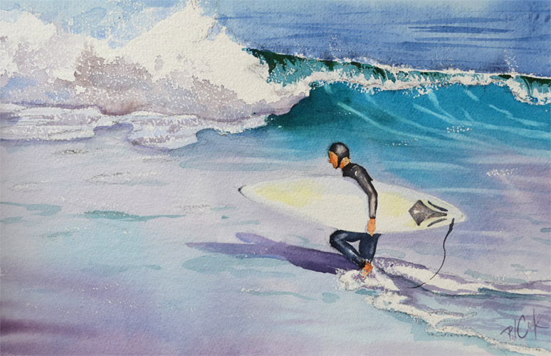 New Surfer Painting