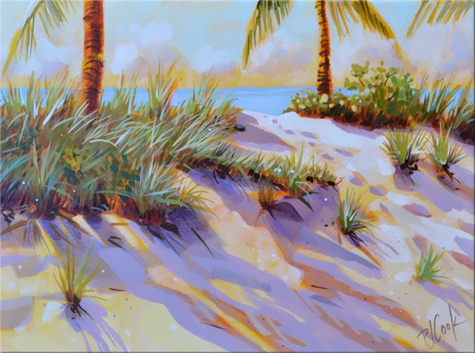 Sand dune radiance original painting 9x12 acrylic on canvas