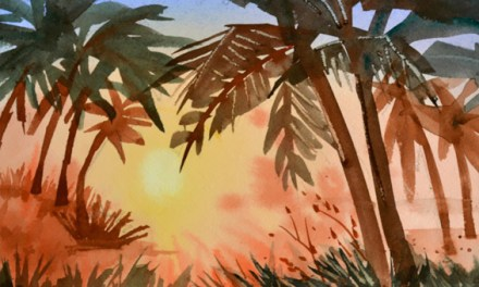 How to Paint a Sunset In Watercolor