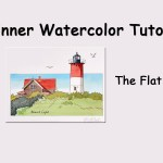 How to Paint an Effortless Flat Wash in Watercolor