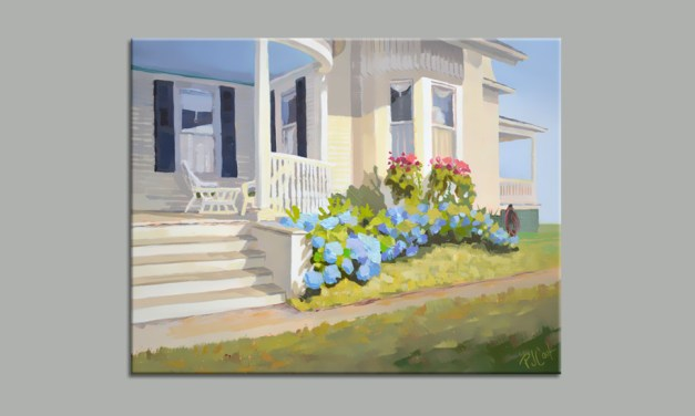 """Hydrangea Blue"" Porch Painting"