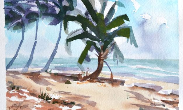 Breezy Palms Watercolor