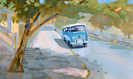 VW Bus Gouache Painting