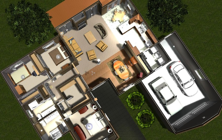 SoftPlan studio   Free Home Design Software   studio home     furniture  lighting  trees  sidewalks  patios  all the elements needed  to create a home  Once placed  these elements can be easily personalized