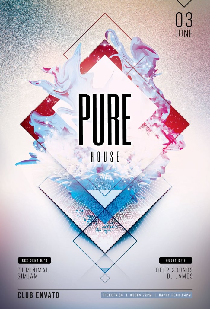 Pure House Flyer