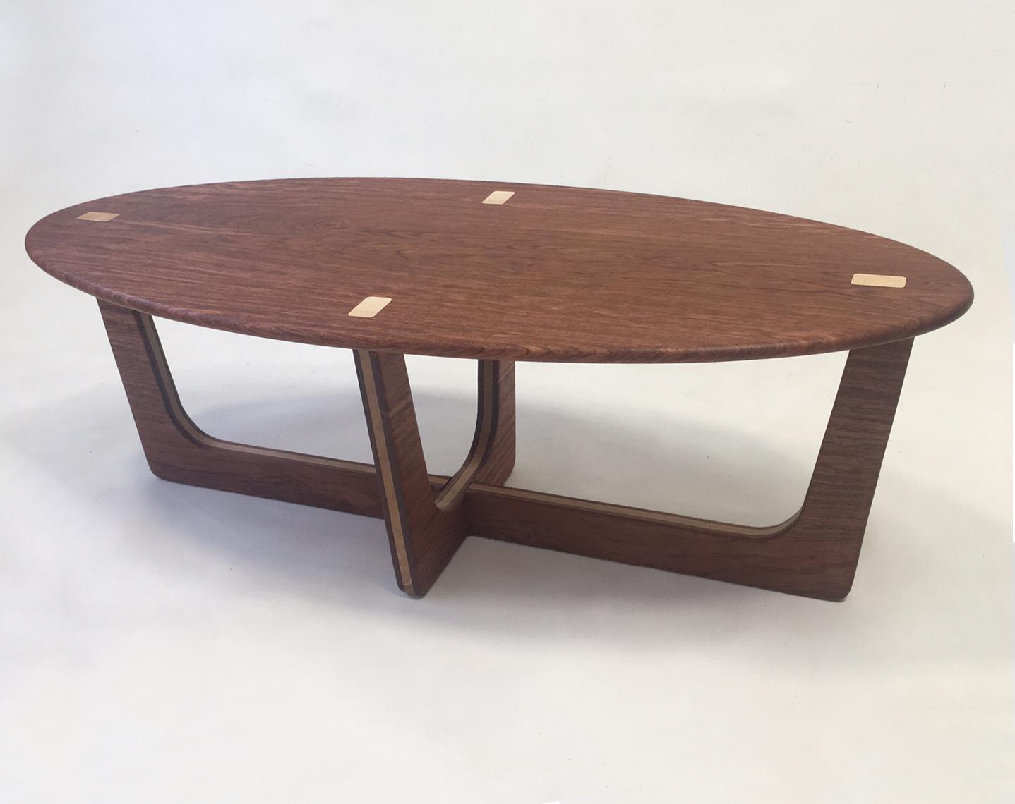 Mid Century Modern Elliptical Table ...