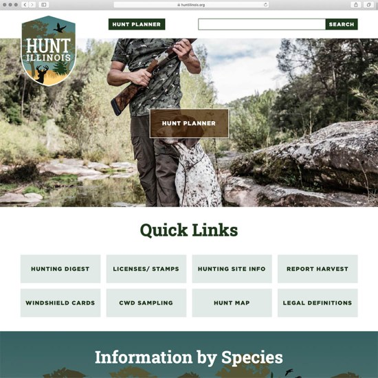 Hunt Illinois website