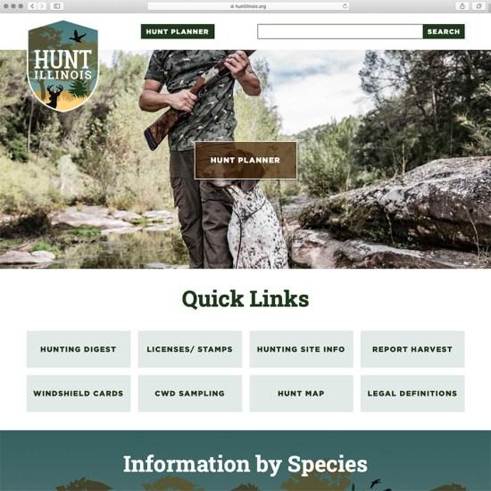 Hunt Illinois website design