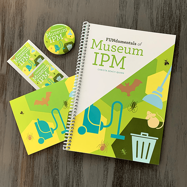 Museum IPM book with promotional swag