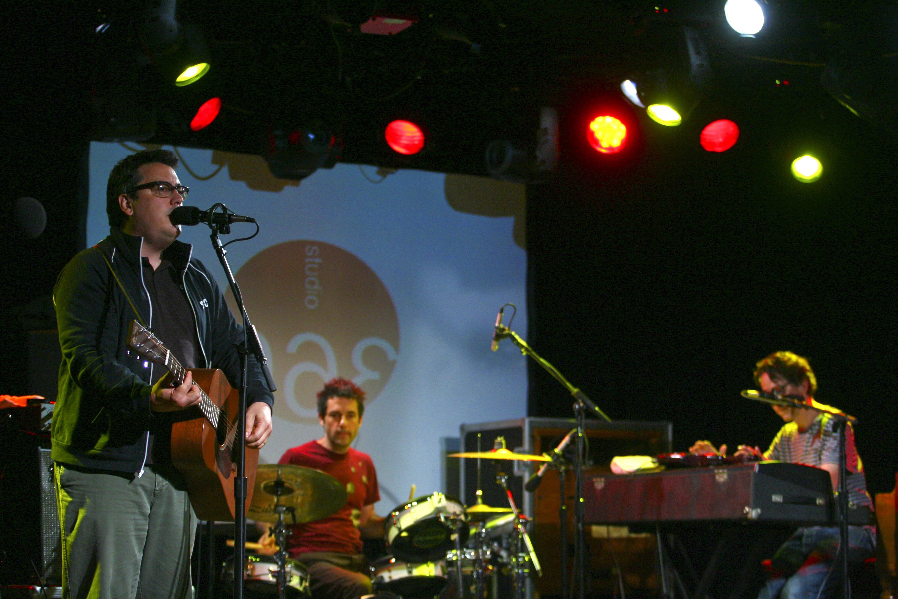 They Might Be Giants onstage in Aspen