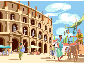 Old Roman Coliseum Clipart