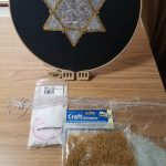 star of David bead embroidery