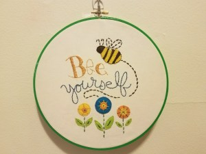 Plaid Bucilla ® Stamped Embroidery - Bee Yourself Kit Completed
