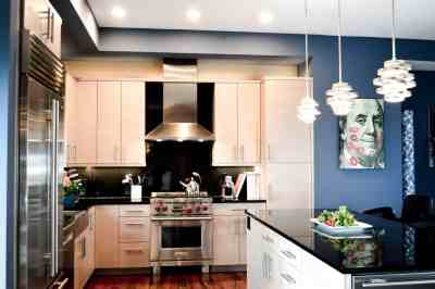 Modern Compact Condo Kitchen