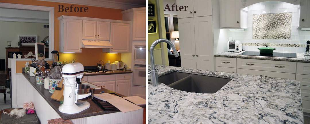 Kitchen remodeler photo before and after