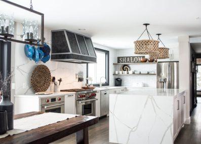 Black and white modern kitchen remodel