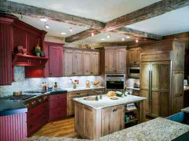 Rustic Kitchen, two islands