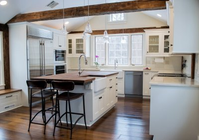 White farmhouse century kitchen
