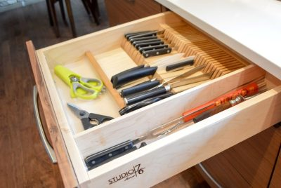 custom kitchen knife drawer