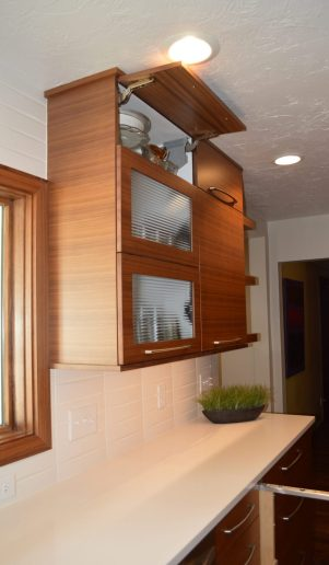 custom upper cabinet to the ceiling