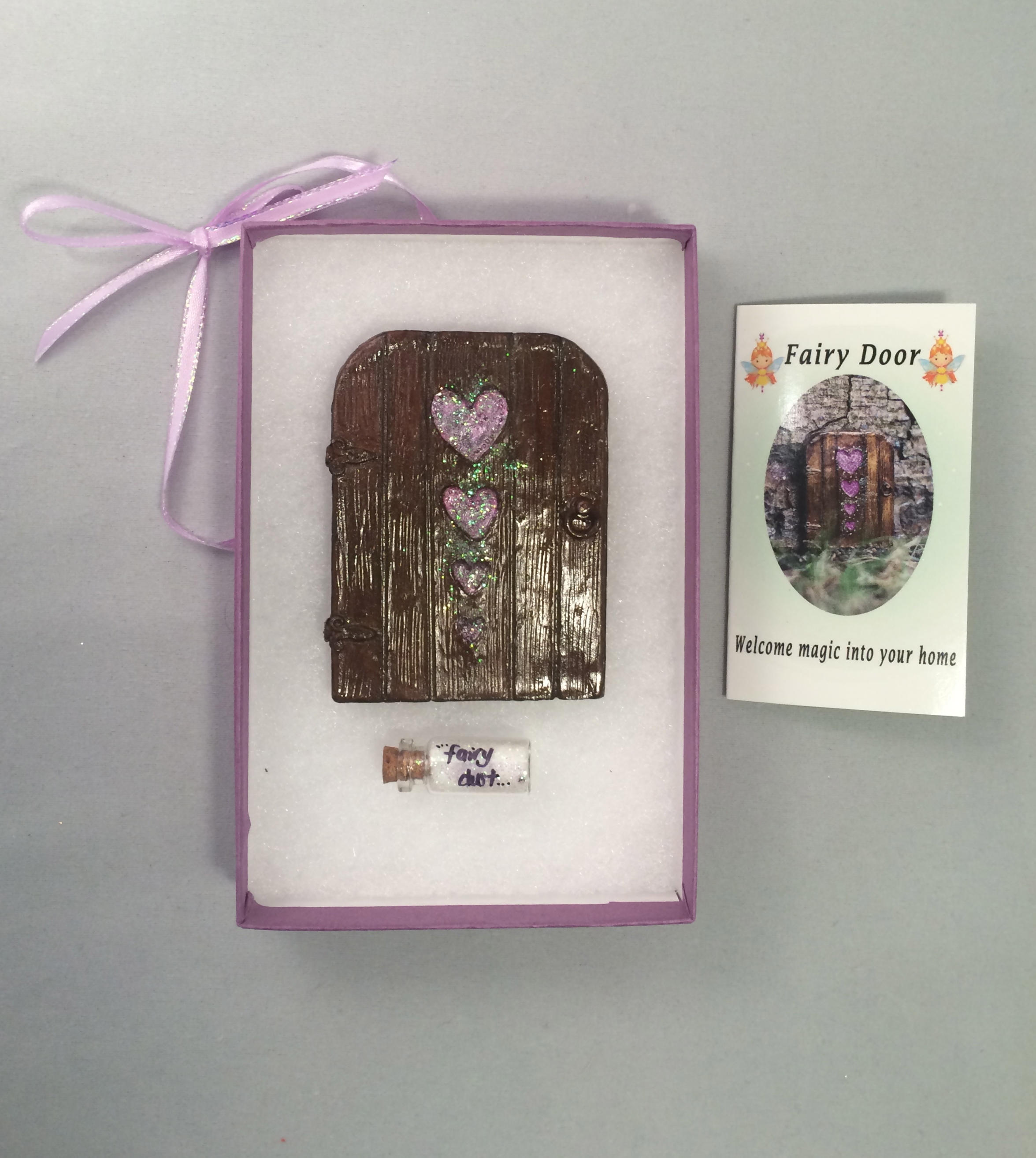 Hearts Fairy Door – light pink