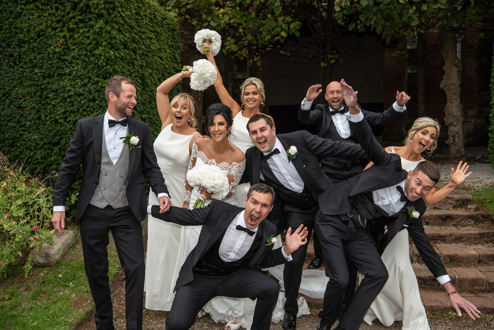 Bridal party having fun. Photography by studio 900