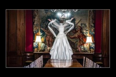 Bride Throwing Veil at Thornton Manor