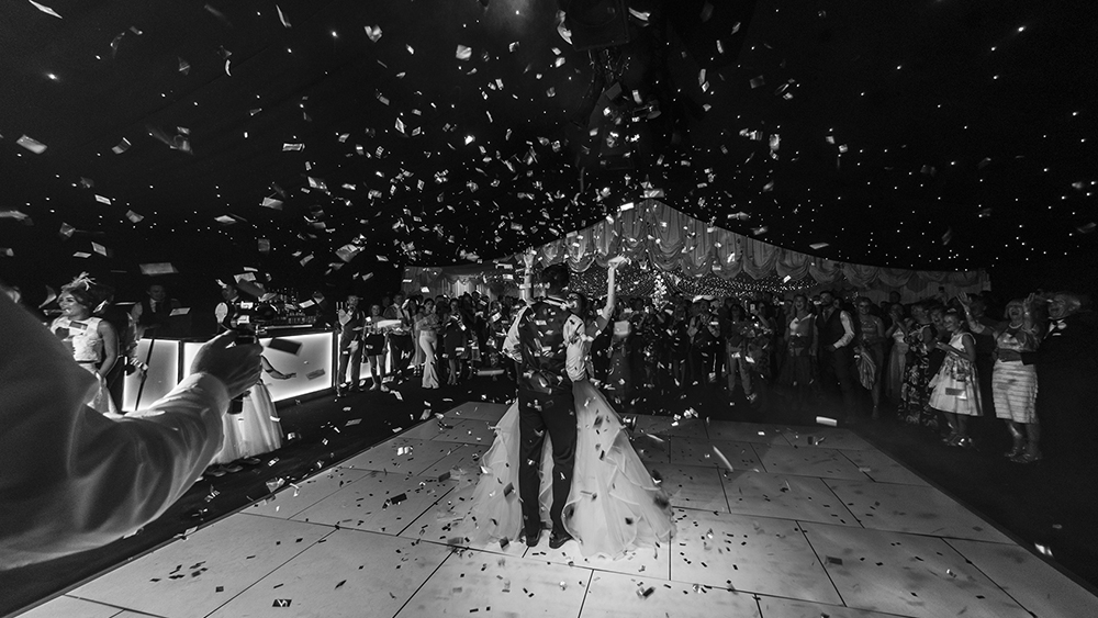 Confetti Cannon,first dance in marquee