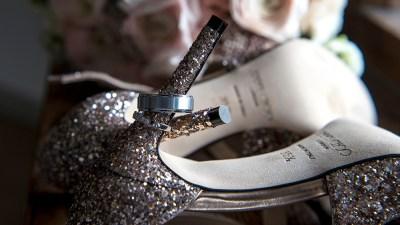 rings on Jimmy Choo shoe