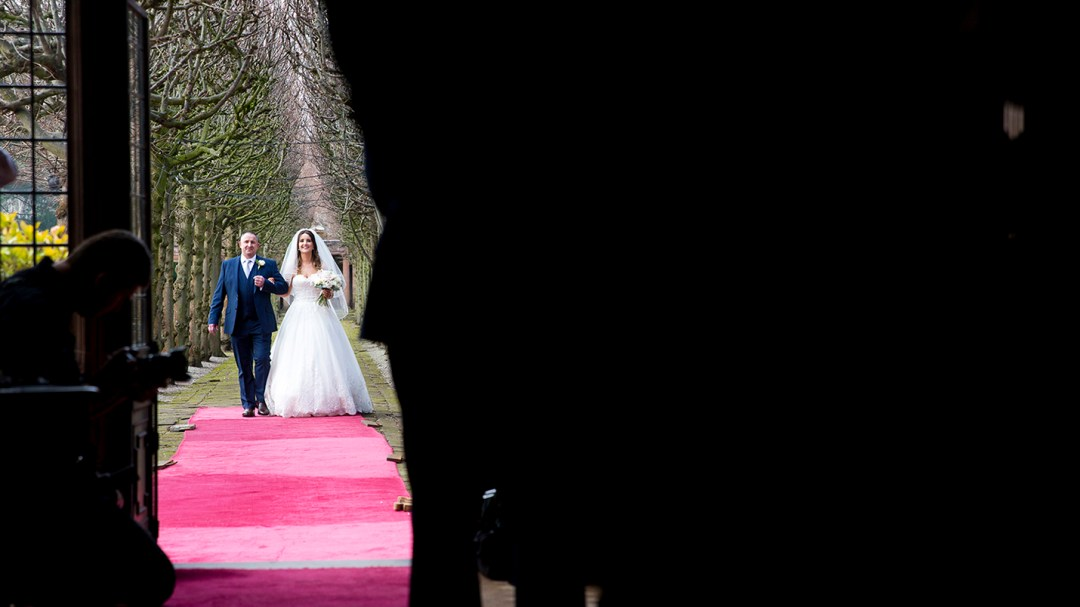 The lime walk at Thornton Manor. Wirral wedding photography by Studio 9001