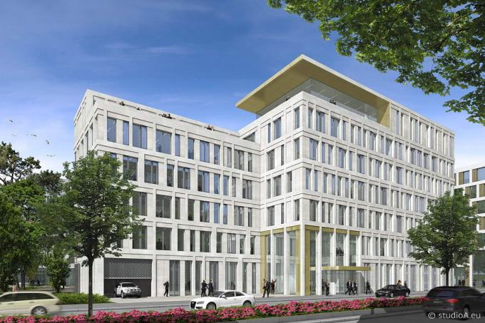 3D visualization office building / Gateway Gardens / near airport Frankfurt / client Gross und Partner