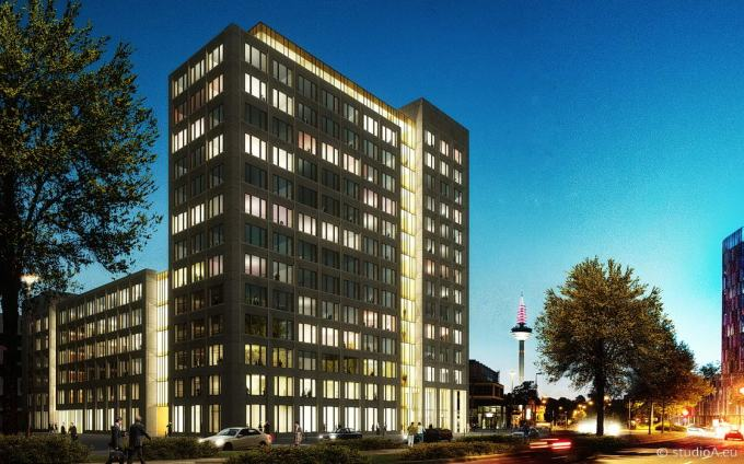 3D visualization building in Frankfurt Bockenheim / client Gross und Partner
