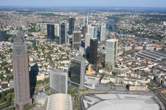 3D Bird's Eye View Frankfurt