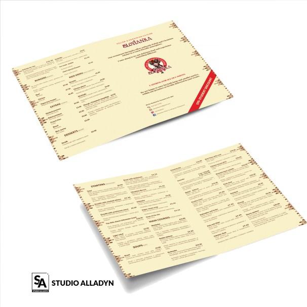 Karta menu restauracji – projekty kart menu