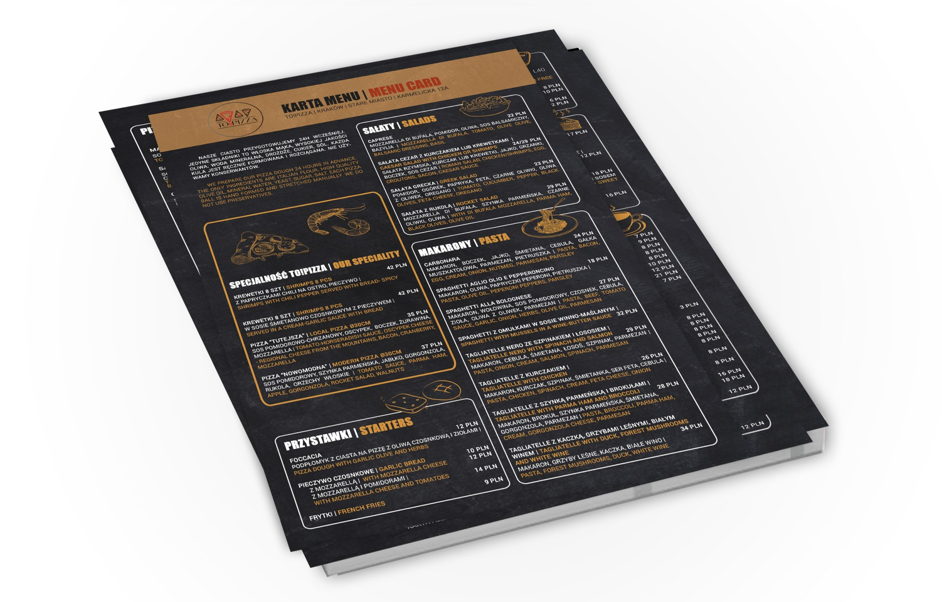 Studio Alladyn. Przykładowa karta menu.