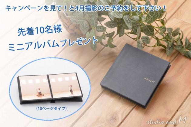 ミニアルバム紺(14×14cm外寸)10ページタイプ