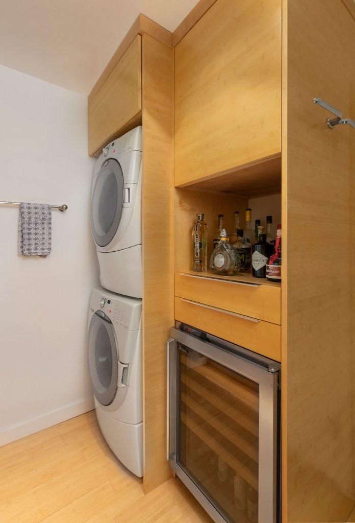 10 Stack Laundry Wine Fridge and Bar