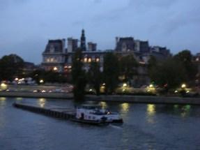 Bateau Mouche et la mairie de Paris au fond : 5 mn à pieds