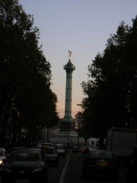 Le Génie de la Bastille : 15 mn à pieds