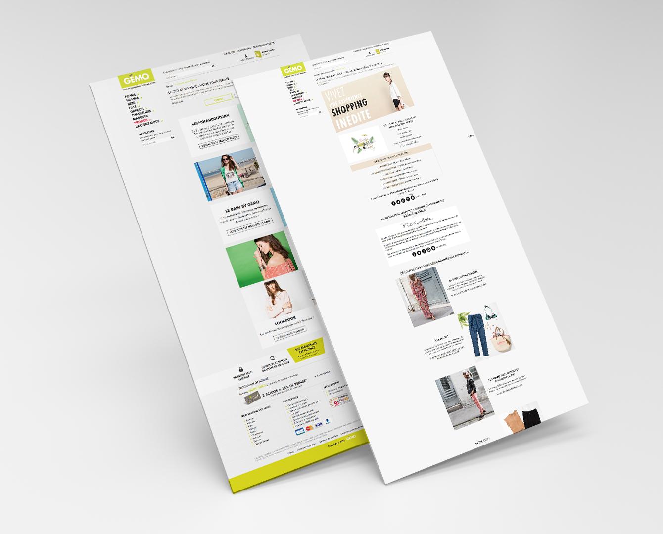 Design landing page - GEMO